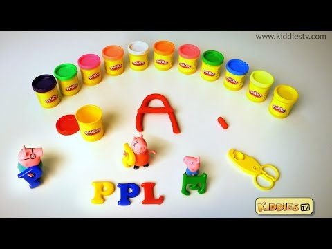 Play Doh  A TO Z with Peppa Pig | Best Toddler learning alphabets video | Kiddiestv