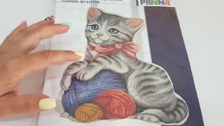 Обзор набора Подушка Мой котенок от Panna