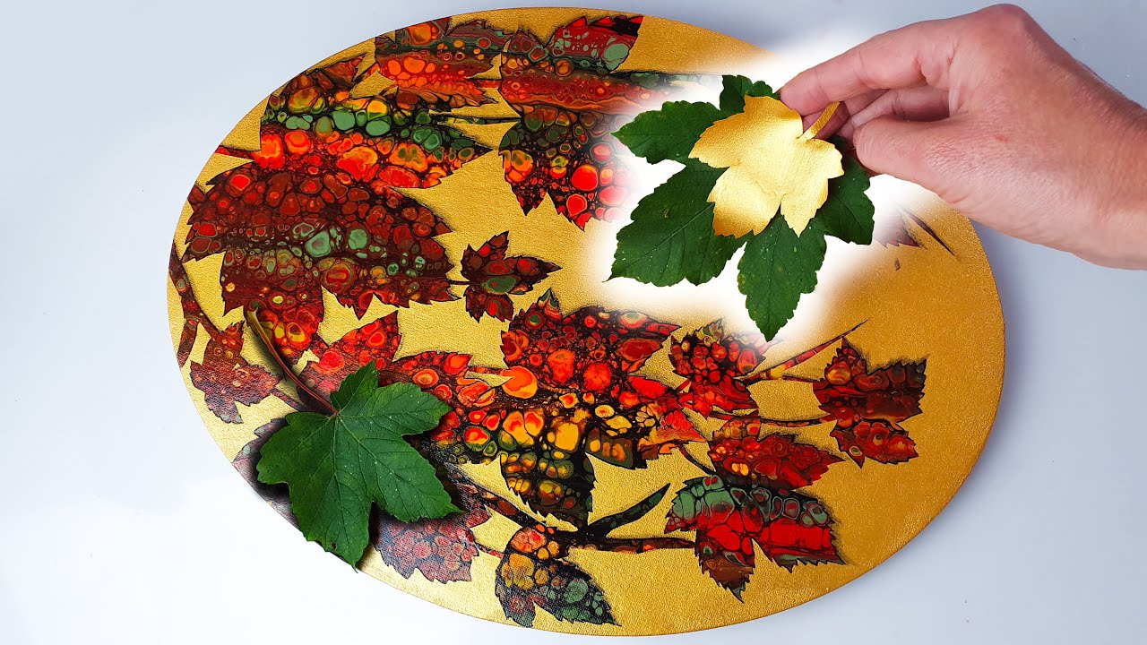 Download ASTOUNDING Autumn Leaves Painting - Real Leaves + Satisfying Techniques   AB Creative Tutorial