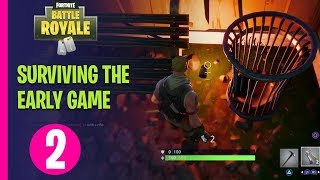 Fortnite Battle Royale Academy - SURVIVING THE EARLY GAME - PART 2
