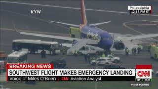 Southwest flight makes emergency landing after losing an engine