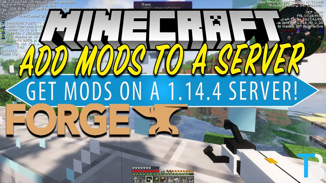 How To Add Mods to A Minecraft Server in Minecraft 1 14 4