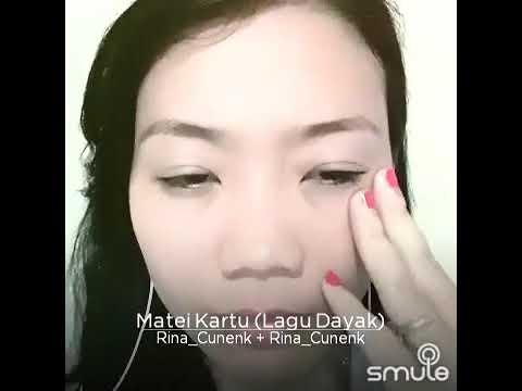 Makeup vs no makeup! Matei Kartu Dayak