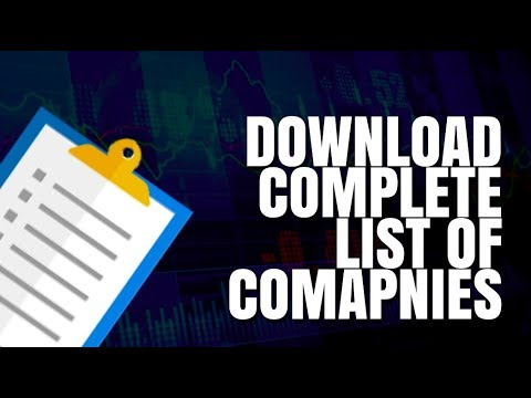 How To Download The Complete List Of Stocks Listed On BSE And NSE?
