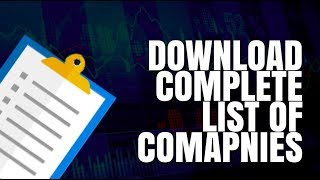 How to Download the complete list of Stocks listed on BSE and NSE? | Trade Brains