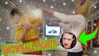 SNOWBALL FIGHT WITH MIRANDA SINGS!!!