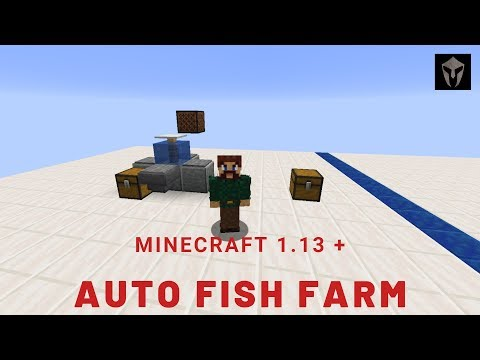 Minecraft AFK Fish Farm Tutorial 1.13 Full Release / 1.14 Snapshot | Server Friendly