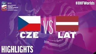 Czech Republic vs. Latvia - Game Highlights - #IIHFWorlds 2019