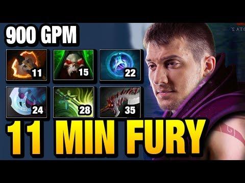 His FARMING SPEED is INSANE 11 Min Fury - Arteezy [Anti-mage] Dota 2