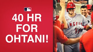 Of course Shohei Ohtani is the first to 40 HR this season!