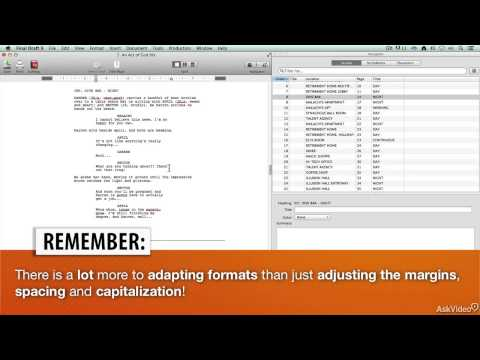 Final Draft 102: Revising and Editing a Screenplay - 11. Applying a Template Midstream