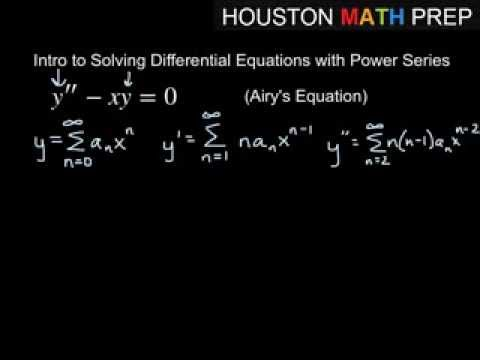 Solving Differential Equations with Power Series