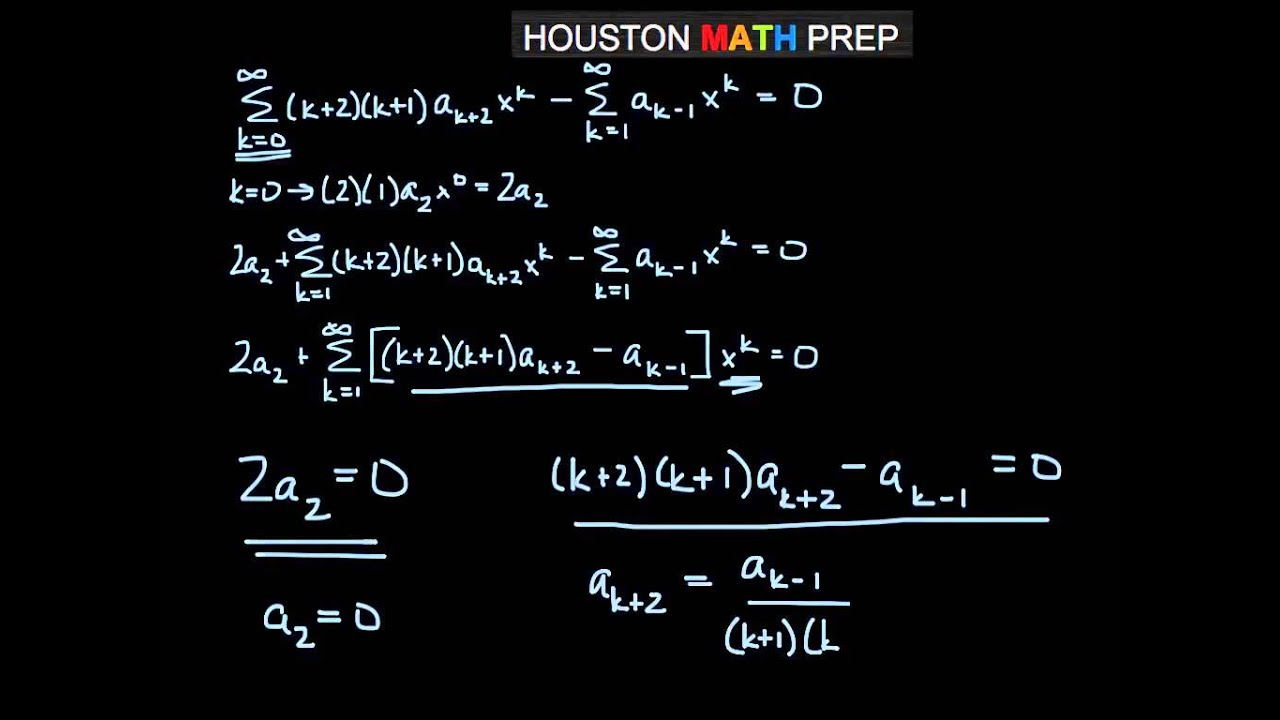 Solving Differential Equations with Power Series - YouTube