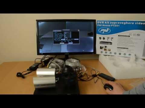 DVR kit supraveghere video PNI House PTZ01 - DVR si 4 camere