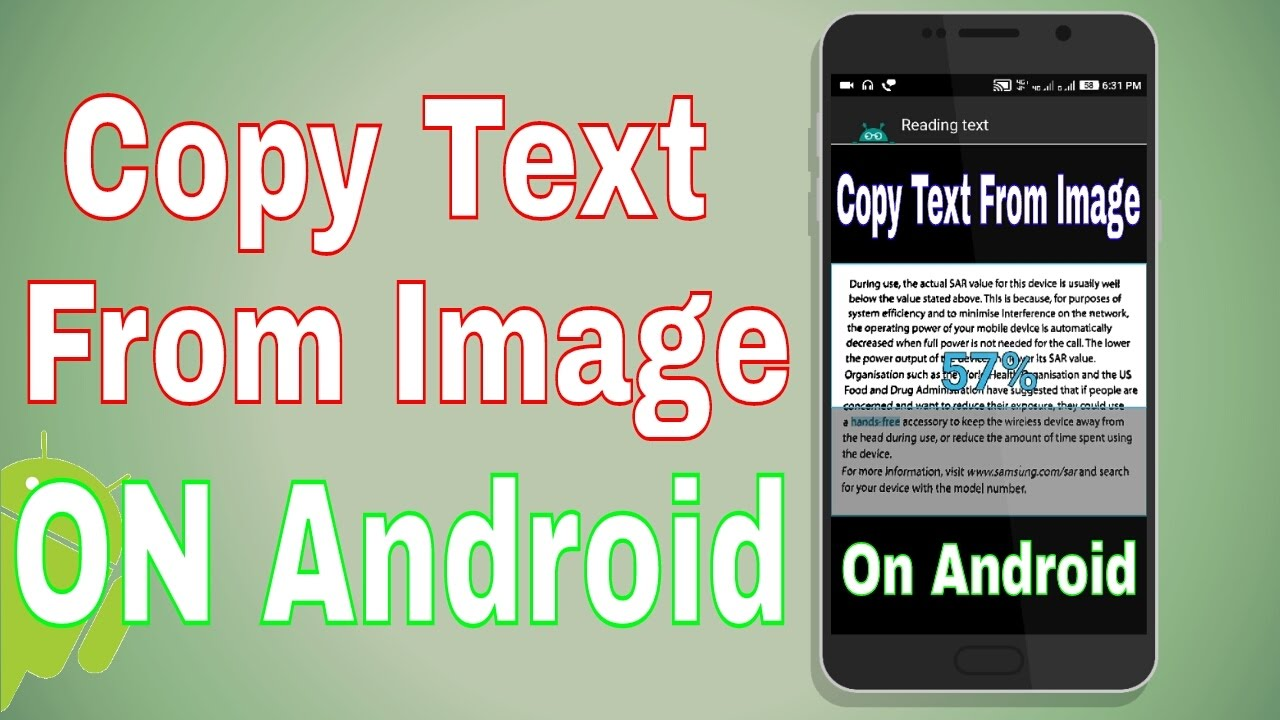 How To Copy Text From Image [ ON Android ]