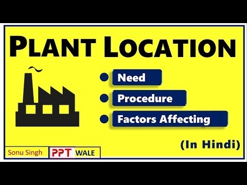 PLANT LOCATION IN HINDI | Need & Procedure for selection | Factors affecting | BBA/MBA | ppt