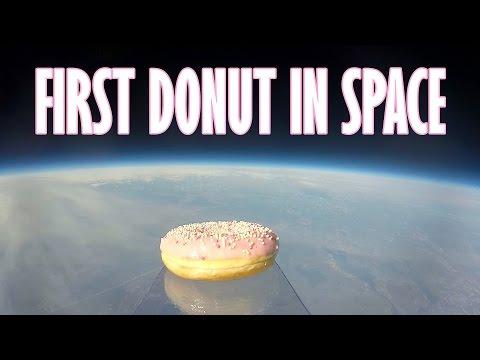 Jóvenes científicos enviaron una dona a la estratósfera y el video ya es furor
