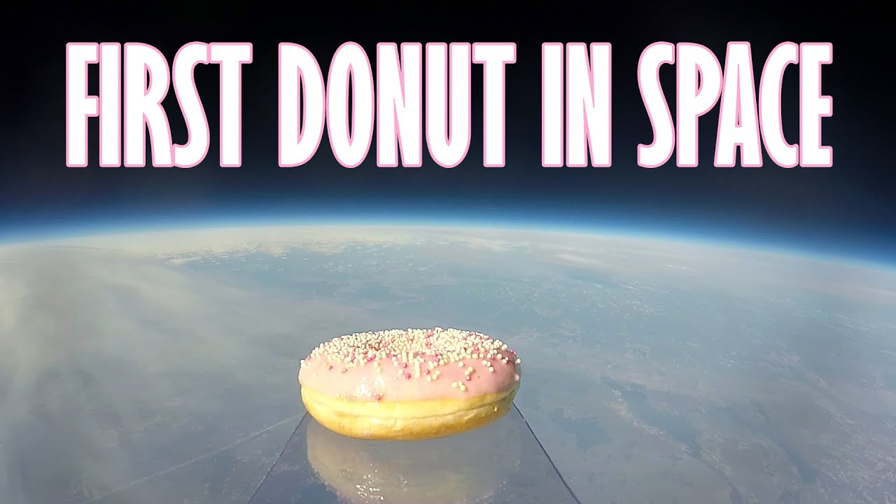 FIRST DONUT IN SPACE - YouTube