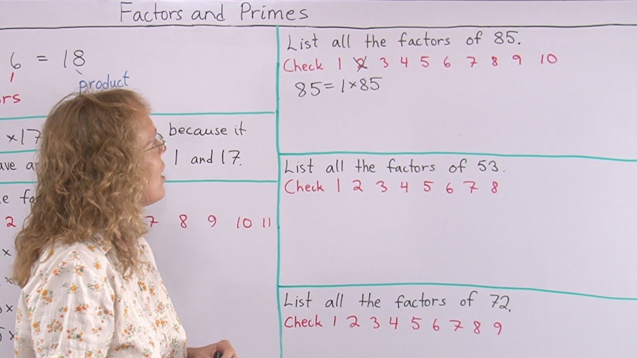How to find all the factors of a given number - 4th grade math - YouTube [ 720 x 1280 Pixel ]