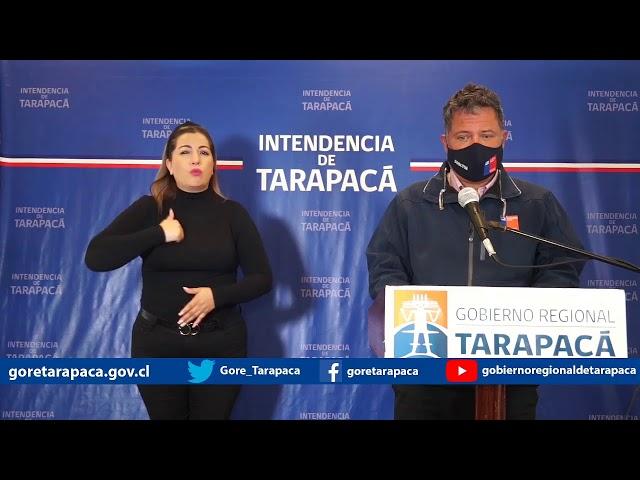 Punto de prensa 28 de septiembre de 2020 - Gobierno Regional de Tarapacá