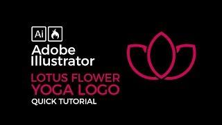 Adobe Illustrator Beginner Tutorial How to Create a Lotus Flower Yoga Logo