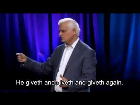 Ravi Zacharias about Annie Johnson Flint - He giveth more grace
