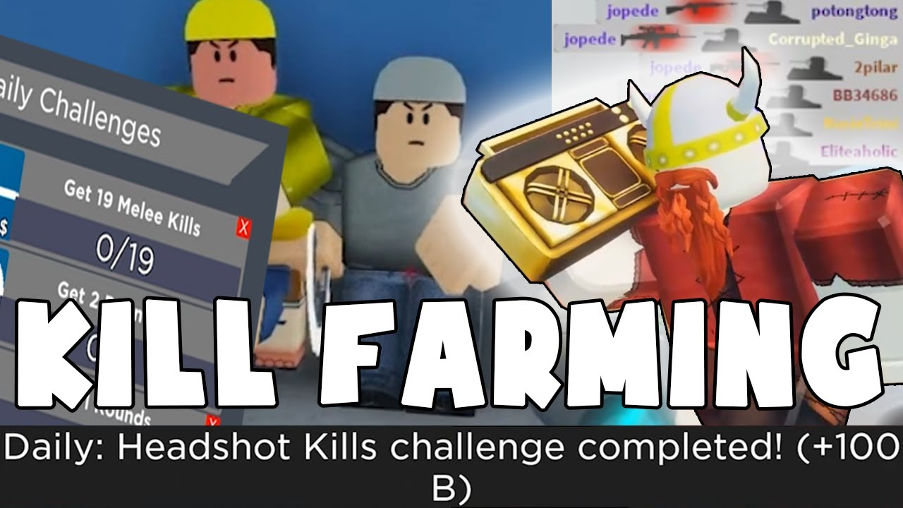 DAILY CHALLENGES COMPLETED - KILL FARMING (ROBLOX ARSENAL)