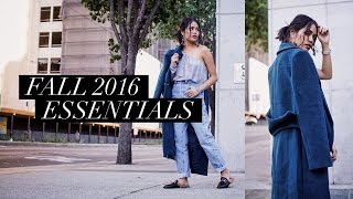 Fall Essentials Lookbook 2016 | Luxe and Linen