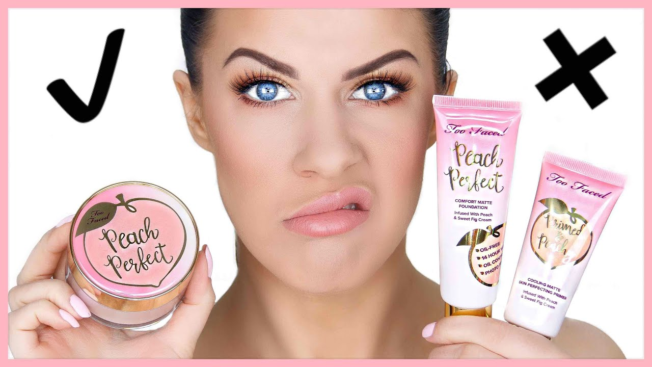 Primed & Peachy Cooling Matte Perfecting Primer by Too Faced #3