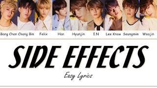 STRAY KIDS - SIDE EFFECTS Easy Lyrics by GOMAWO [Indo Sub]