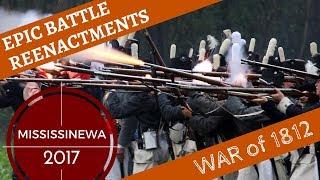 Epic War of 1812 Reenactment [in the Rain] -- Mississinewa 2017