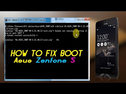 HOW TO FLASH ZENFONE 4/5/6 BY ADB SIDELOAD MODE