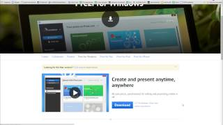 04 Как скачать программу Prezi на свой компьютер