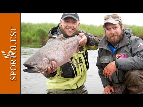 Amazing Fly Fishing For Salmon Bristol Bay Lodge Alaska