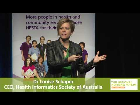 Dr Louise Schaper CEO Health Informatics Society of Australi