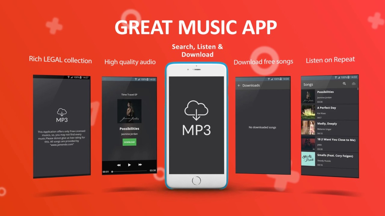 Free Music Downloader App for Android mobile phone and tablet - YouTube