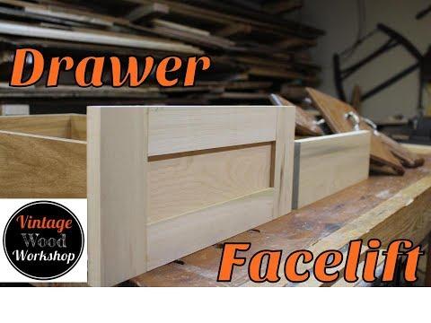 Building New Drawer Fronts. DIY Retrofit. How To.  Kitchen Remodel #2. Vintage Wood Workshop