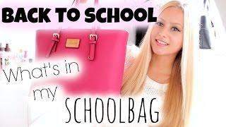 Back to school | Whats in my schoolbag  -  Anna Scherg