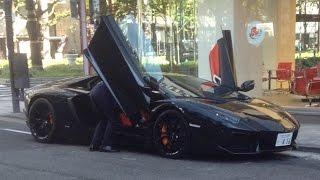 大阪御堂筋で遭遇!! ランボルギーニ アヴェンタドール V12サウンド Lamborghini Aventador LP700-4