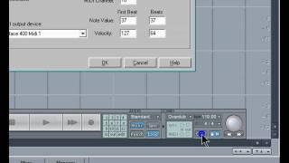 Samplitude Basics 13:Metronome Setup