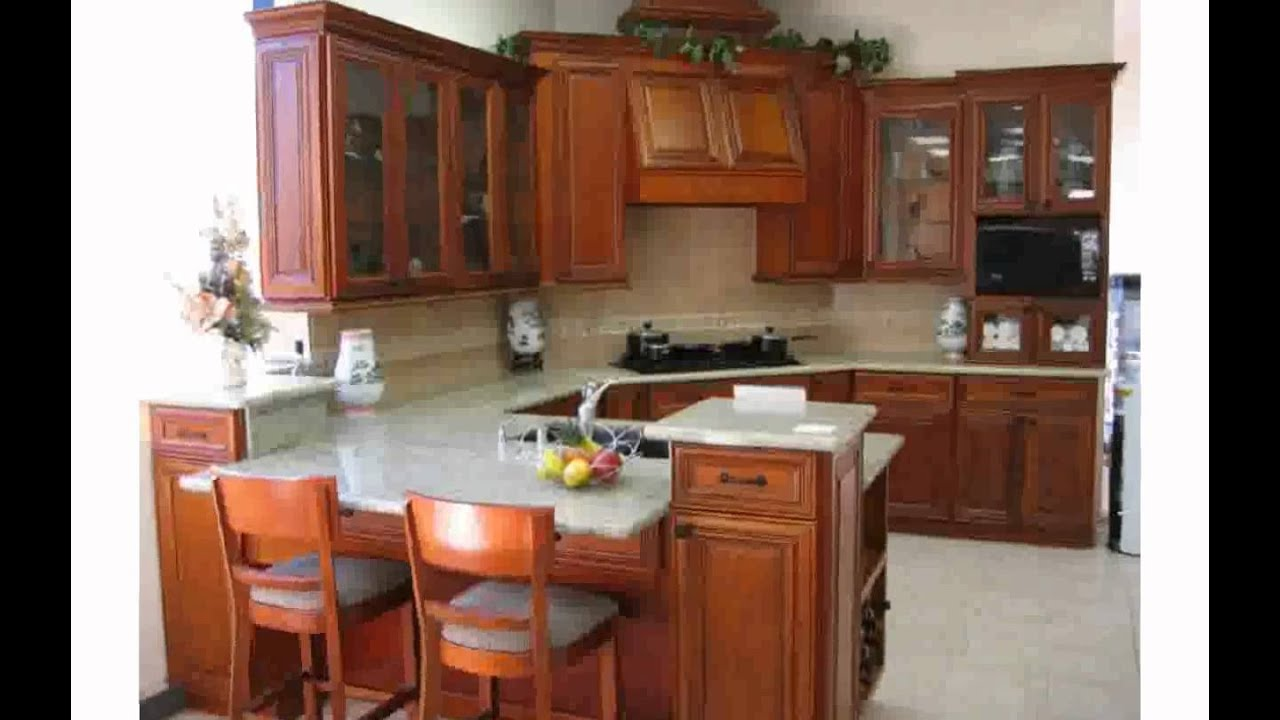 Kitchen Decorating Ideas With Cherry Cabinets - YouTube