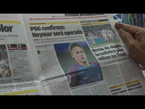 Brazilians react to Neymar's surgery