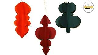 DIY Paper Hangings | Paper Craft for Christmas | Paper Lantern Design | Just Craft