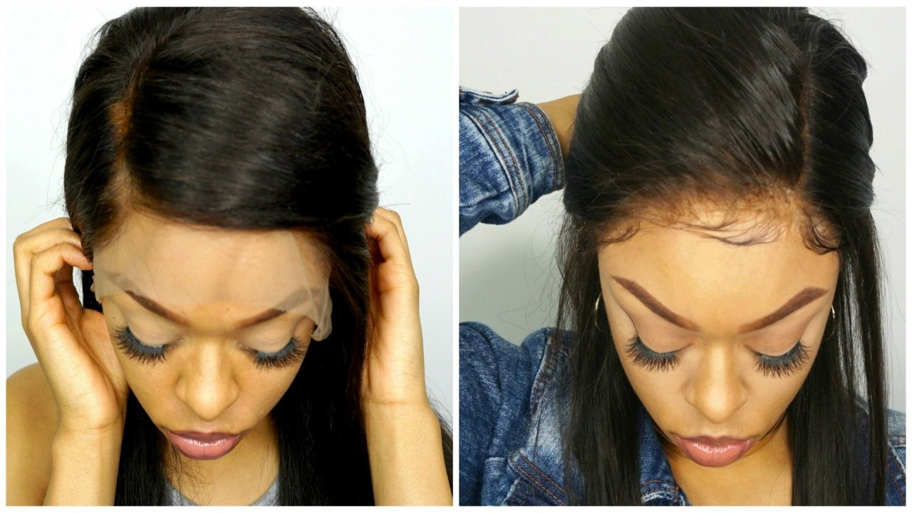 HOW TO APPLY AND SECURE LACE WIG (NO GLUE) - YouTube 87fb2b018