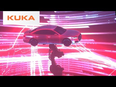 Audi + KUKA - Projection Mapping with Robots is Visually Stunning