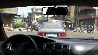ナイジェリア ラゴス郊外ルカマーケット付近