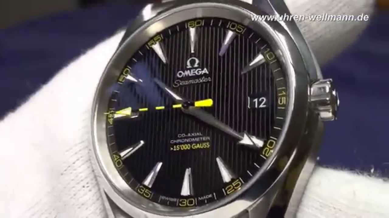Omega Seamaster Aquaterra 15000 Gauss Youtube