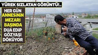 Zihinsel Engelli Genç, Her Gün Annesinin Mezarına Gidip Toprağa Sarılıp, Öpüyor