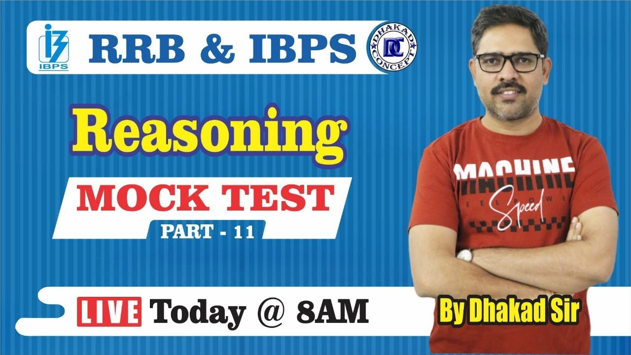 [11] IBPS RRB Clerk/PO Crash Course | Reasoning online Classes | Mock Test - 11