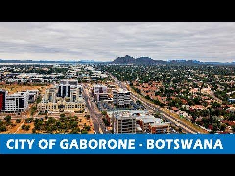 Aerial View Of Gaborone CBD